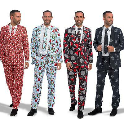 Mens Stag Do Christmas Xmas Suit Fancy Dress Costume Stand Out Party Outfit Tree • 29.99£