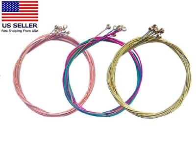 $ CDN8.74 • Buy 3 Sets Of 6pcs Colorful Acoustic Guitar Strings 1st-6th String Steel Strings US
