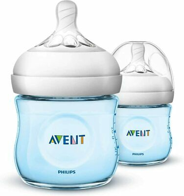 AU23.99 • Buy Philips Avent Natural Baby Bottles, 125ml, Blue, 2-Pack