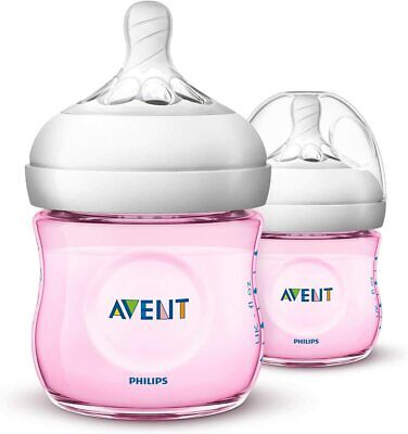 AU21.99 • Buy Philips Avent Natural Baby Bottles, 125ml, Pink, 2-Pack