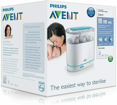 AU119.94 • Buy Philips Avent 3-in-1 Electric Steam Steriliser With Fast Cycle And Auto Shut-Off