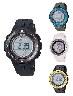 $ CDN134.42 • Buy Casio Men/Women Pro Trek Triple Sensor Tough Solar Black Resin Watch PRG330