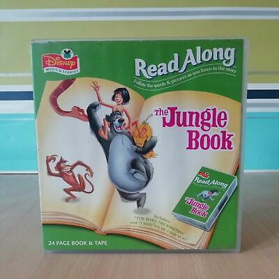 Disney Read Along The Jungle Book, 24 Page Story Book & Audio Tape, Vintage • 4.99£