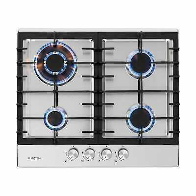 £189.99 • Buy Gas Hob 4-Burner Electric Kitchen Glass Ceramic Cooking Top Cooker - Silver