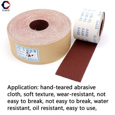 60-1000 Grit Emery Cloth Roll Abrasive Sand Paper Burnish Sanding Metalworking • 18.07£