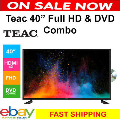 AU459 • Buy TEAC TV 40 Inch FULL HD DVD COMBO 3x HDMI USB Playback 40  Television DVD Player