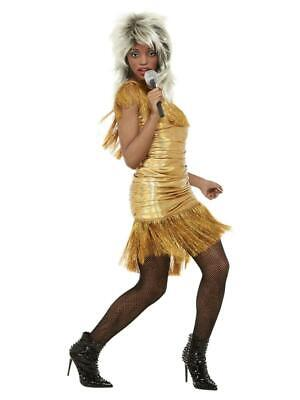 Adult Ladies Simply The Best Legend Tina Gold Fancy Dress Costume • 20.95£