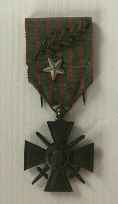 WW1 French Croix De Guerre  Medal With Two Citations To Ribbon 1916 • 35£