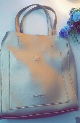 Claudia Canova Gold/ Golden Tote Bag With Inner Make Up Bag New Ladies/women • 20.99£