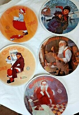 $ CDN39.44 • Buy 5 Vintage Norman Rockwell Christmas Plates Numbered Authentic Seal Certificate