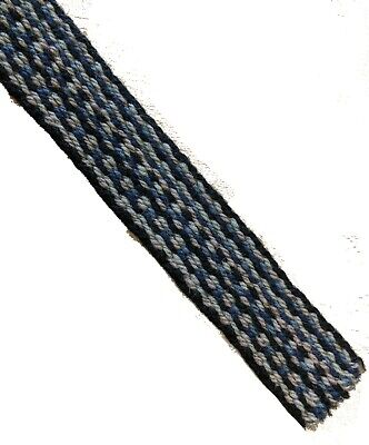 Rustic Woven Wool Vintage Skinny Short Flat End Tie Blue And Grey 1950s 1960s • 9.99£