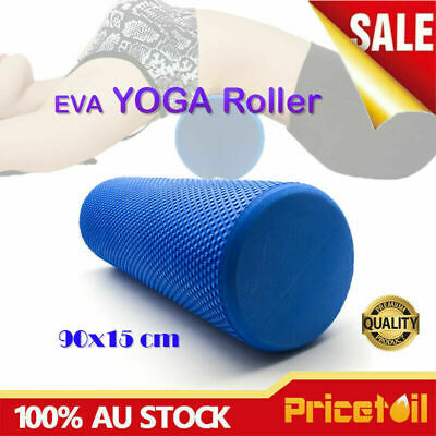 AU29.98 • Buy EVA 90x15cm Yoga Foam Roller Physio Back Training Pilates GYM Exercise Massage