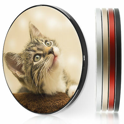 AU44.12 • Buy Wireless Charger For Apple Iphone 11/XS/8/Samsung S10/S9 - Green Eyed Cat Kitten