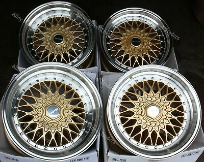 AU912.66 • Buy 16  Gold RS Alloy Wheels Fits Nissan 100nx Almera Cube Micra Note Cube 4x100