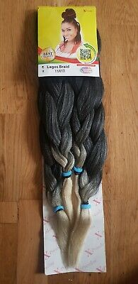 Pre Stretched Braiding Hair Extensions Synthetic Hair Xpression Attachment • 4.99£