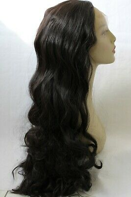£33.99 • Buy New UK-Stock Brown Kinky Yaki Heat Resistant Silky Synthetic Lace Front Wig 24
