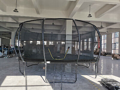 £464.99 • Buy 16FT Trampoline With Internal Safety Net Enclosure, Ladder+Rain Cover (48hr Del)