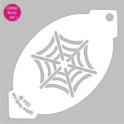 £1.99 • Buy Spider Web Face Painting Stencil - Spiderman Web 054 - Face Painting Template