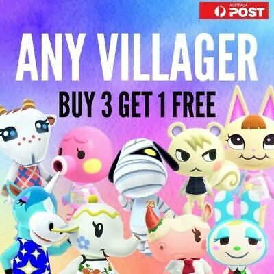 AU10 • Buy Any Animal Crossing Villager - NFC Unofficial Amiibo Cards - BUY 3 GET 1 FREE