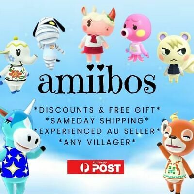 AU10 • Buy Animal Crossing Unofficial Amiibo Cards - Any Villager - Nintendo Switch Tested!