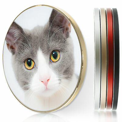 AU44.12 • Buy QI Wireless Charger For Apple Iphone 11/XS/8/Samsung S10/S9 - Grey Cat Kitten
