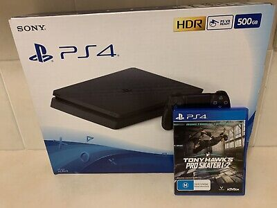 AU399 • Buy PS4 500GB Console JET BLACK And Tony Hawk Pro Skater HD Remaster