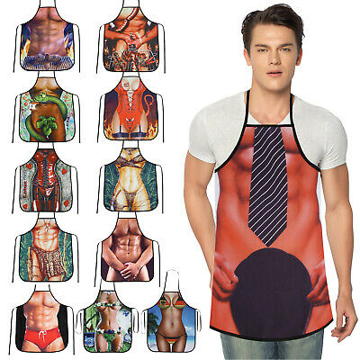 MenWomen Novelty Funny Apron Chef Cooking Kitchen BBQ Apron Party Cloth Dress Up • 5.69£