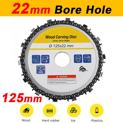 5'' 125mm Angle Grinder Disc Tooth Chain Saw Blade Cutter Wood Cutting Tools UK • 6.69£