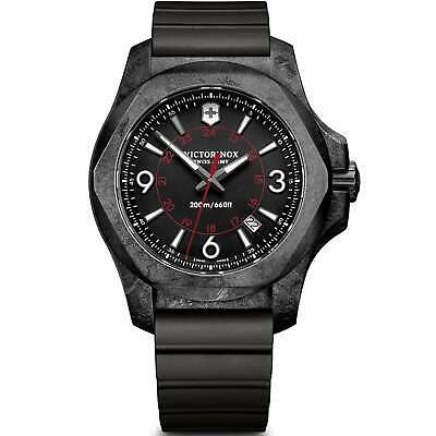Victorinox Swiss Army Watches 241777 I.N.O.X. Carbon Black Rubber Men's Watch • 500.50£