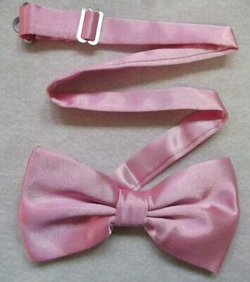 Bow Tie MENS New Dickie Adjustable Bowtie Silky Shiny LIGHT BABY PINK • 4.79£