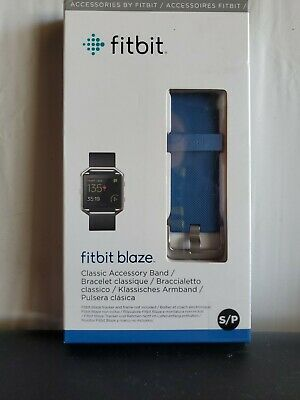 $ CDN12.56 • Buy Genuine Fitbit Blaze Classic Accessory Band - Blue - (Small) -  *Free Shipping*
