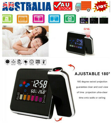 AU21.65 • Buy Smart Digital LED Projection Alarm Clock Temperature Time Projector LCD Display