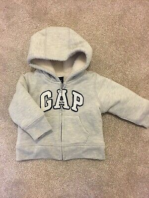 Baby Gap Zip Up Grey Hoody 12-18 Months New With Tags • 7.50£