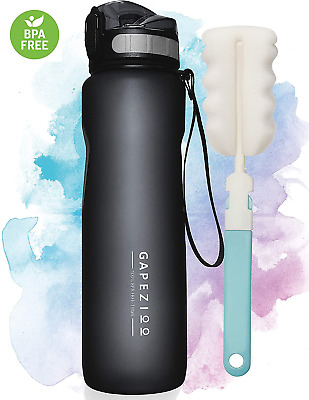 £16.41 • Buy Gapezioo Insulated Water Bottle With Times And Brush | Giant Large Workout