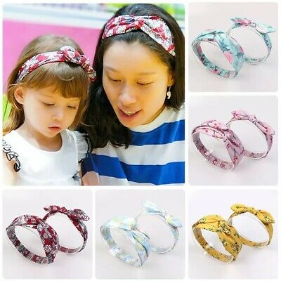 AU9.50 • Buy 2pcs Mother Daughter Matching Head Wraps Headband Hair Accessories AU Stock