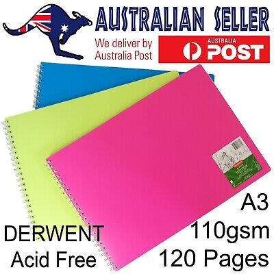 A3 Derwent Sketch Pad Artist Visual Art Diary Acid Free Paper 110gsm 120 Pages • 17.85£