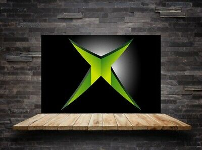 "Games Room Wall Canvas - Xbox PlayStation PC Boys Man Cave Idea Framed 30""x18"" • 29.99£"