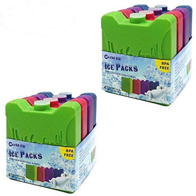 WORLD-BIO Ice Pack Freezer Blocks For Lunch Box Cooler Bag Reusable - Small But • 17.67£