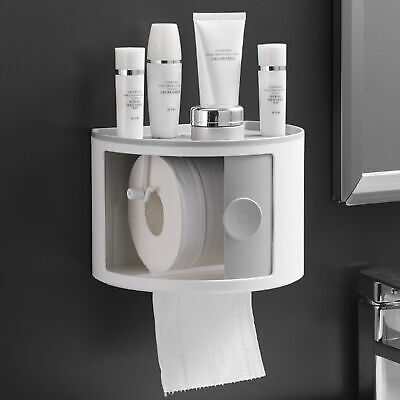 AU23.65 • Buy Punch-free Roll Toilet Paper Cover Holder Cosmetic Storage Tissue Dispenser Box