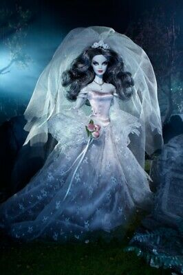 Barbie Collector Edition Haunted Beauty Zombie Bride Barbie Doll New In Shipper • 400£