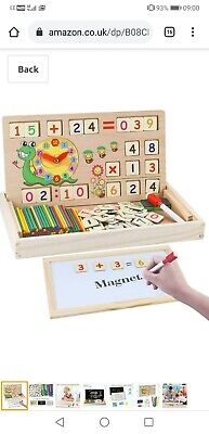 MEckily Montessori Wooden Toys For 3 4 5 6 7 Year Old Boys And Girls, Maths And • 14.59£
