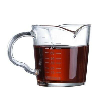 Glass Measuring Cup Jigger For Espresso Coffee Double-mouthed Ounce Cups • 7.95£