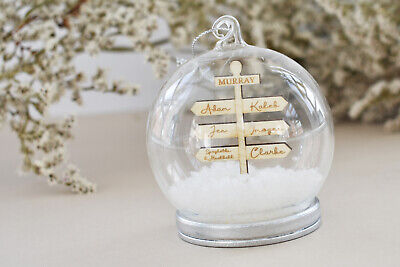 Snow Globe Bauble | Personalised Bauble | Christmas Decoration • 12.99£