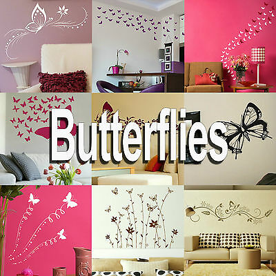 £2.99 • Buy Butterfly Wall Stickers! Home Transfer Butterflies Graphic Decal Decor Stencils