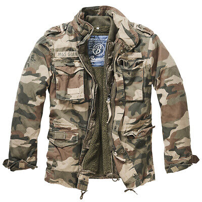 $129.64 • Buy BRANDIT GIANT M65 JACKET Mens Field Military Army Coat With Liner Light Woodland