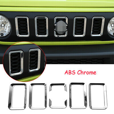 AU85.55 • Buy 6PCS For Suzuki Jimny 2019-2020 Chorme ABS Front Grill Grille Inserts Cover