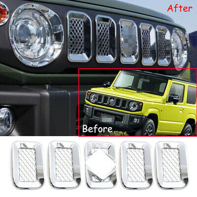 AU98.88 • Buy 5P Chrome ABS Front Grille Inserts Mesh Cover  For Suzuki Jimny 2019-2020