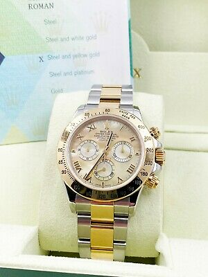 $ CDN25239.68 • Buy Rolex Daytona 116523 Rare Champagne MOP Dial 18K Yellow Gold Stainless Box Paper