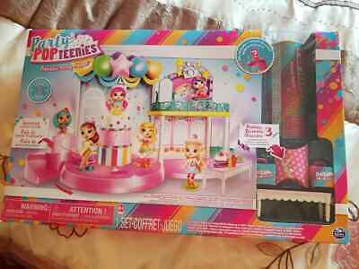 Doll Playset Party Pop Teenies Poptastic Party Surprise Popper Christmas Toys • 23£