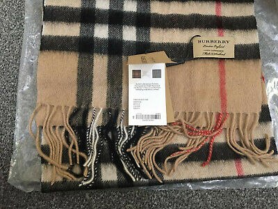 Burberry The Classic Check Cashmere Scarf For Men & Women -Camel Colour RRP £370 • 269.99£
